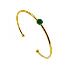 Armring med grøn onyx - 3363