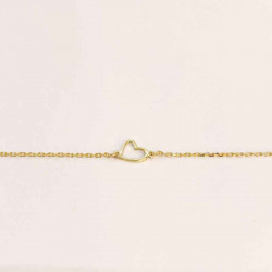 Guld ankelkæde med åben hjerte 8 kt. - 6293,23