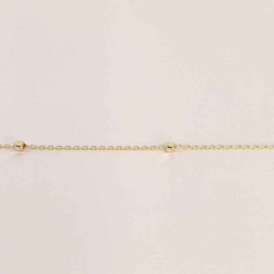 Guld ankelkæde med guldkugler 8 kt. - 6303,23