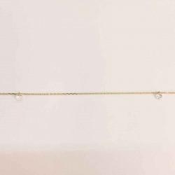 Guld ankelkæde med zirconia 8 kt. - 6313,23