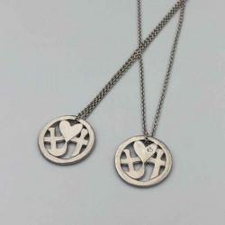 Halskæde Tro, håb & Kærlighed - Sølv med zirconia - 1032rh - 2