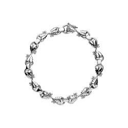 Armbånd i sølv med blade -...