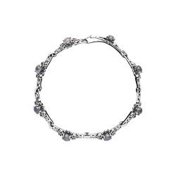 Armbånd i sølv med månesten - 9018710-50