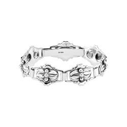 Armbånd i sølv med 7 led - oxyderet - 901388