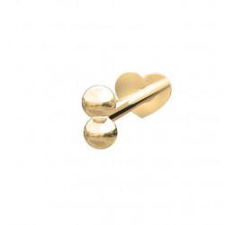 Guld Labret-piercing/ørering kugle 2*2mm 14 kt. - 314 001 5 1