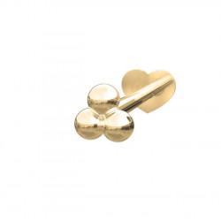 Guld Labret-piercing/ørering kugle 3*2mm 14 kt. - 314 002 5 1