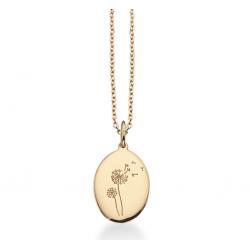 Amulet mælkebøtte i 8kt guld incl. forgyldt kæde - 211333