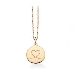 Amulet hjerte i 8kt guld incl. forgyldt kæde - 211343