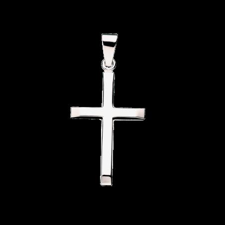 Kors 35 x 22 mm. sølv