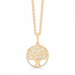 Livets træ i 8 kt guld incl. forgyldt kæde - SD76242043
