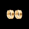 Guld knæk creoler i 14kt