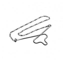 Slipsekæde i sølv - Figarokæde fra Nordahl Andersen