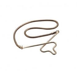 Slipsekæde i forgyldt sølv - slangekæde fra Nordahl Andersen