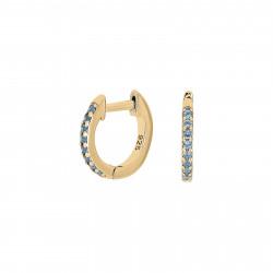 Creoler i forgyldt sølv med blå zirconia - 345 286-3