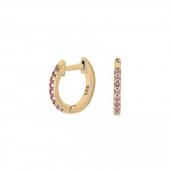 Creoler i forgyldt sølv med pink zirconia - 345 287-3