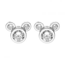 Disney sølv ørestikker Mickey Mouse med zirkonia - 10333998