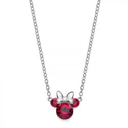 Disney sølv halskæde Minnie Mouse med røde zirkonia - 16333008