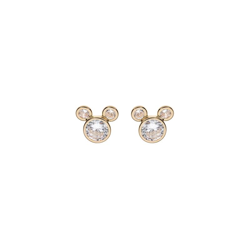 Disney 9 kt. guld ørestikker Mickey Mouse med zirkonia - 60333009