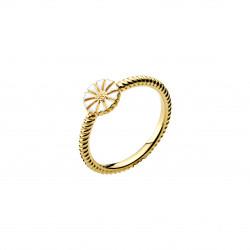 Marguerit ring i forgyldt sølv med snoet ringskinne - 9075042-M