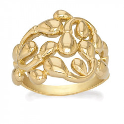 Ring i forgyldt sølv - Dancing Drops - 75720300