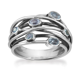 Ring i sølv med sky blue topas - Andromeda - 64716336