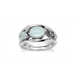 Ring i sølv med farvede sten - Forest Lake - 74616353