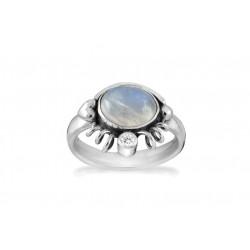 Ring i sølv med Månesten og zirkonia - Moon Light - 69416330