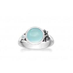 Ring i sølv med calcedon og sky blue topas - Delight - 75416353