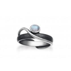 Ring i sølv med Månesten - Midnight Moon - 40816630