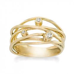 Ring i forgyldt sølv - Sparkling Dream - 70320325