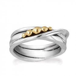 Ring i sølv - Golden Bubbles - 72417300