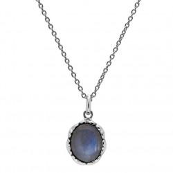 Vedhæng i sølv med labradorit inkl. kæde - Affection - 75916134
