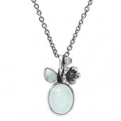 Vedhæng i sølv med farvede sten inkl. kæde - Forest Lake - 74616153