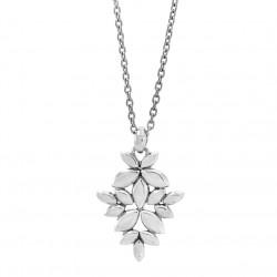 Vedhæng i sølv med gyldne blade inkl. kæde - Kaleidoscope - 75116100
