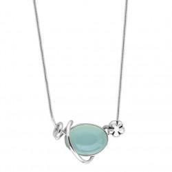 Halskæde i sølv med calcedon - Blurred Blue - 56616153