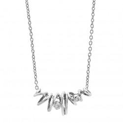 Vedhæng i sølv med hvid topas inkl. kæde - Sparkling Dream - 70316125