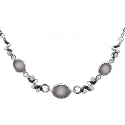 Halskøde i sølv med månesten og zirkonia - Glamorous Grey - 74116154
