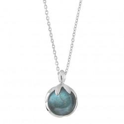 Vedhæng i sølv med labradorit inkl kæde - Arch - 72217134