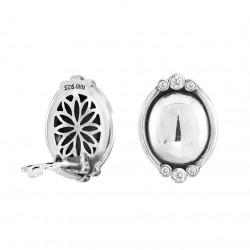 Øreclips i sølv med zirkonia - Glamorous Sphere - 70916870