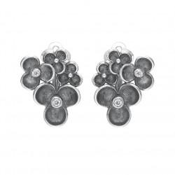 Øreclips i sølv med zirkonia - Blooming Moods - 41116870