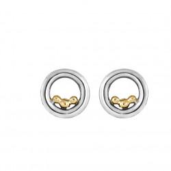 Øreringe i sølv med 14 kt. guldkugler - Golden Bubbles - 72417500