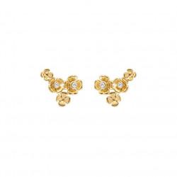 Øreringe i forgyldt sølv med blomster - Marigold - 69820570