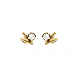 Øreringe i forgyldt sølv med ferskvandsperle - Inner Secret - 67220501