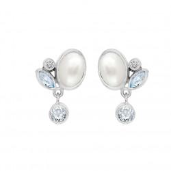 Øreringe i sølv med ferskbandsperle og topas - Optimism - 75516501