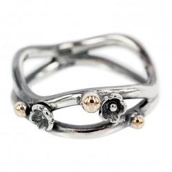 Fairytale sølv ring med 14 kt. guld