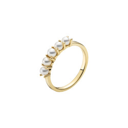 Guld ring 8kt. med ferskvandsperler - 3071191-33