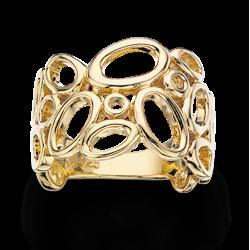 Forgyldt sølv ring