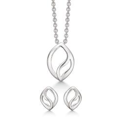 Sølv smykkesæt - snoet - S148581