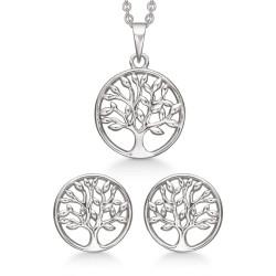 Sølv smykkesæt - Livets træ - S249025
