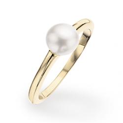 Forgyldt sølv ring med...